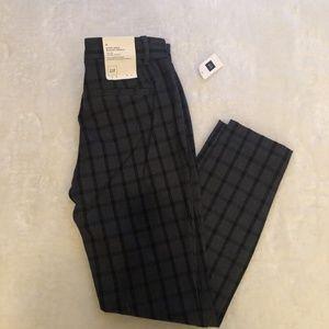 🆕 NWT Gap Grey/Black Checkered skinny ankle pants